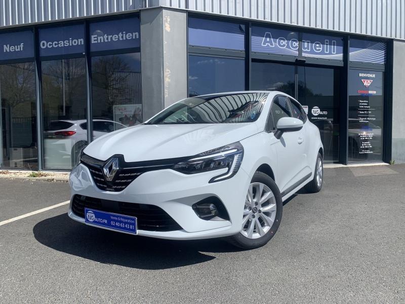 Renault CLIO V TCe 90 X-Tronic - 21 Intens - 5P Essence sans plomb BLANC GLACIER Occasion à vendre