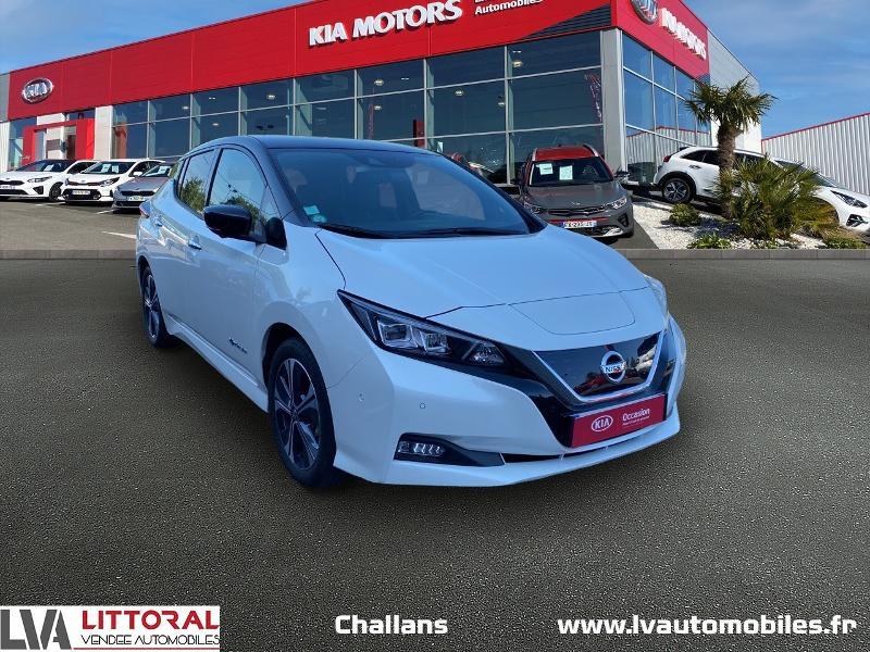 Nissan Leaf 150ch 40kWh Tekna 19 Electrique BLANC Occasion à vendre