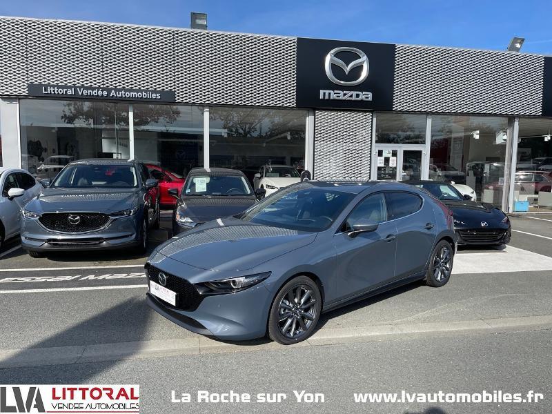 Photo 1 de l'offre de MAZDA Mazda 3 2.0 e-Skyactiv-G M-Hybrid 122ch Sportline BVA à 29990€ chez Littoral Vendée Automobiles Mouilleron Le Captif