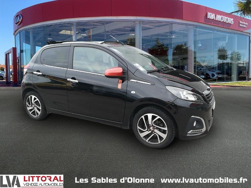 Peugeot 108 1.2 PureTech Roland Garros Top 5p Essence NOIR Occasion à vendre