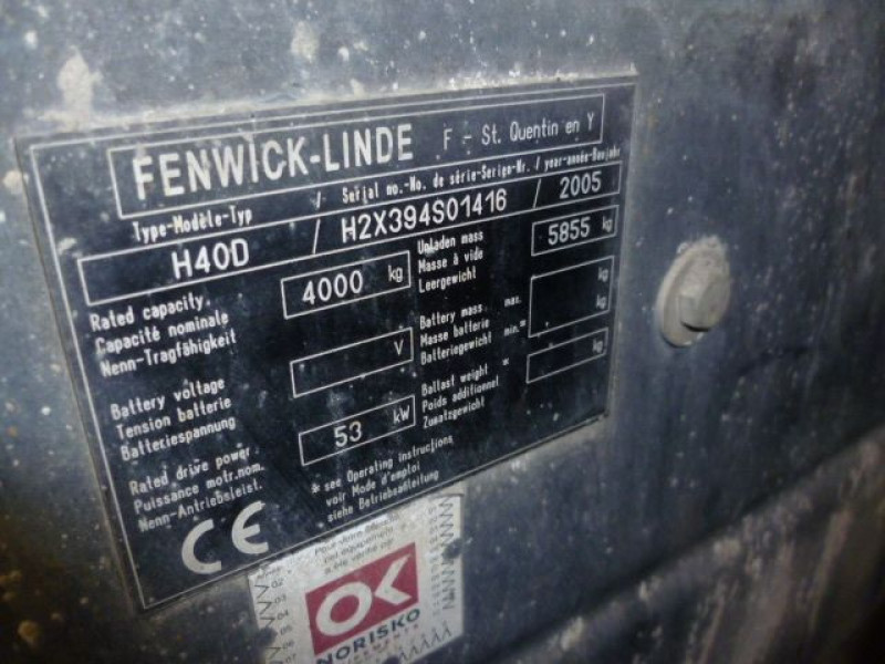 Photo 6 de l'offre de FENWICK CHARIOT FRONTAL DIESEL H40D à 14000€ chez Brignais automobiles