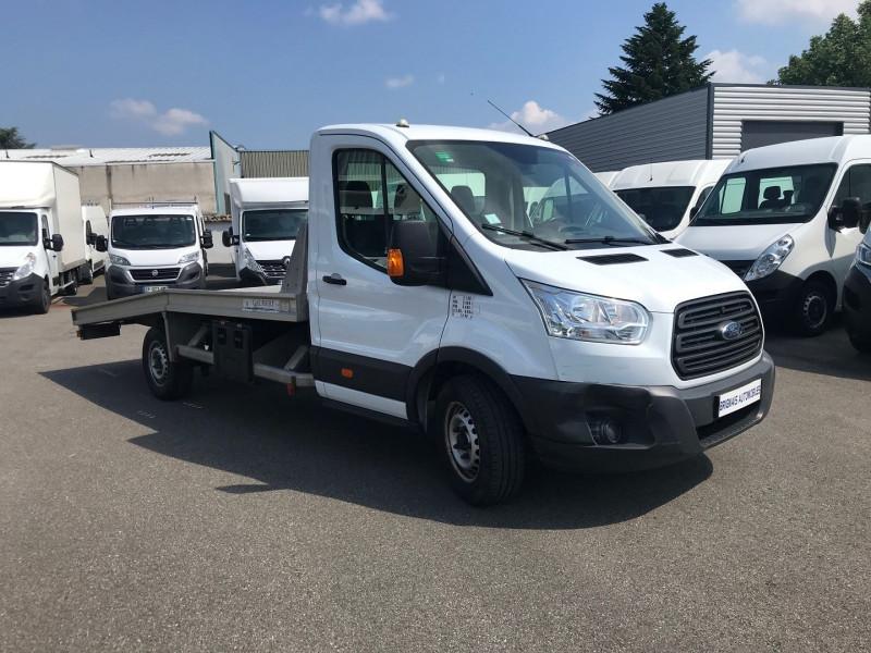 Ford TRANSIT 2T CCB PORTE-VOITURE  350LJ  2.2 TDCI 125CH AMBIENTE Diesel BLANC Occasion à vendre