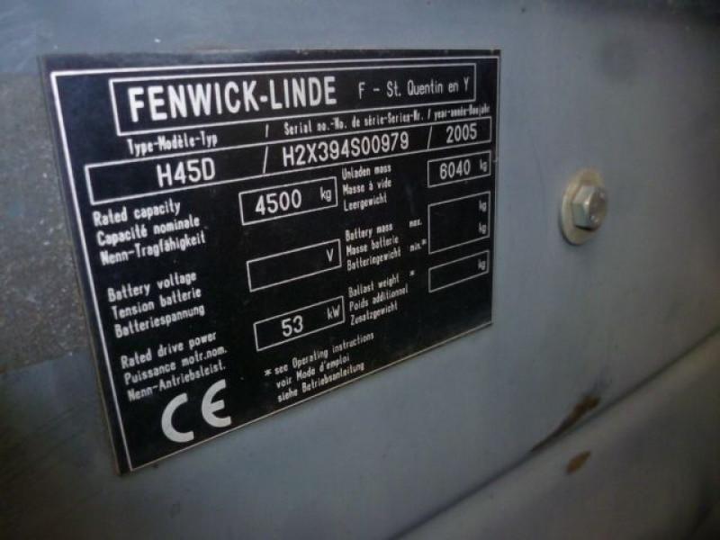 Photo 3 de l'offre de FENWICK CHARIOT FRONTAL DIESEL H45D à 17000€ chez Brignais automobiles