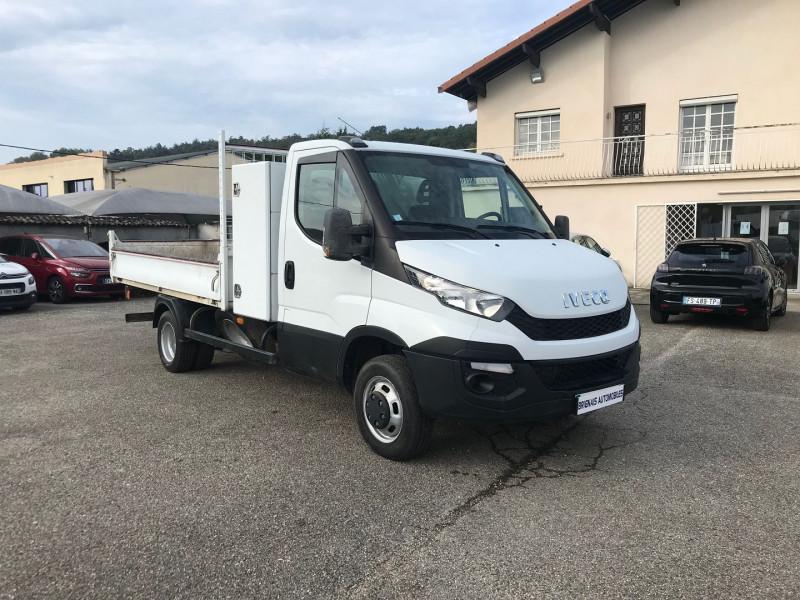 Iveco DAILY CCB 35C13 D  3450 BENNE + COFFRE  3PL.  130CH Diesel BLANC Occasion à vendre