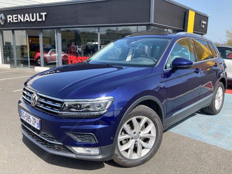 Volkswagen TIGUAN 2.0 TDI 150CH BLUEMOTION TECHNOLOGY CARAT Diesel BLEU F Occasion à vendre