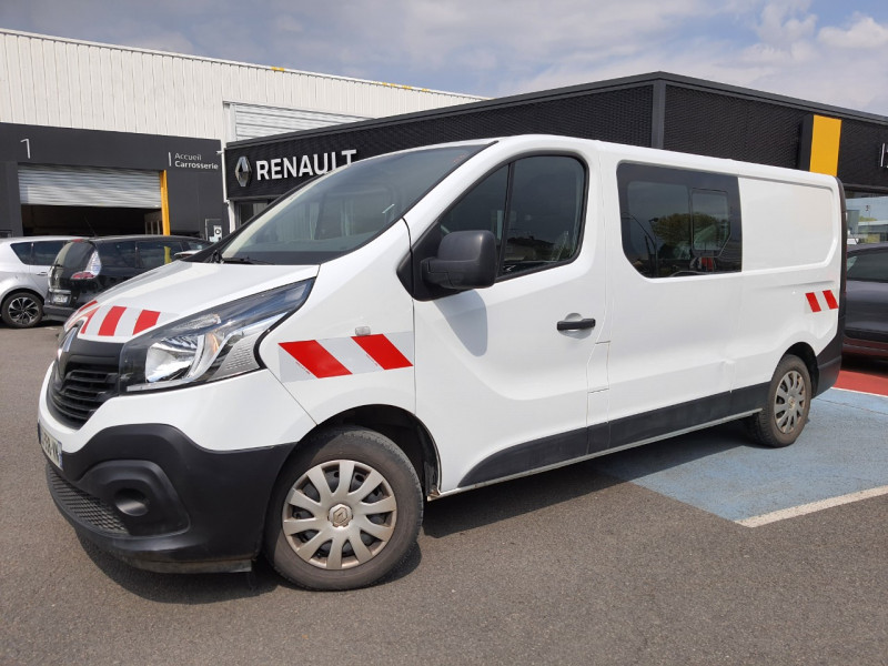 Renault TRAFIC III FG L2H1 1200 1.6 DCI 125CH ENERGY CABINE APPROFONDIE GRAND CONFORT EURO6 Diesel BLANC Occasion à vendre
