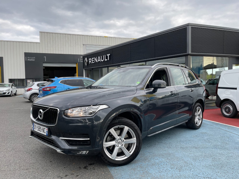 Volvo XC90 D5 AWD 225CH MOMENTUM GEARTRONIC 7 PLACES Diesel GRIS F Occasion à vendre