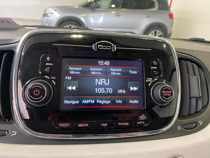 Photo 9 de l'offre de FIAT 500 1.2 8v 69ch Popstar à 9490€ chez Duval Automobiles