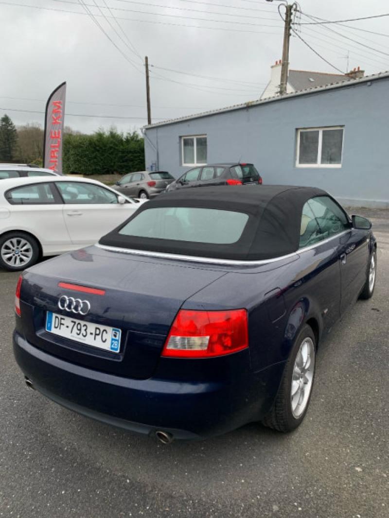 Audi A4 CABRIOLET 1.8 T 163CH S LINE Essence BLEU Occasion à vendre