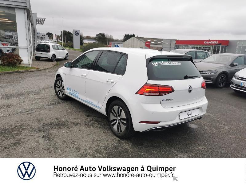 Photo 3 de l'offre de VOLKSWAGEN e-Golf 136ch 4cv à 22500€ chez Honore Auto - Volkswagen Quimper