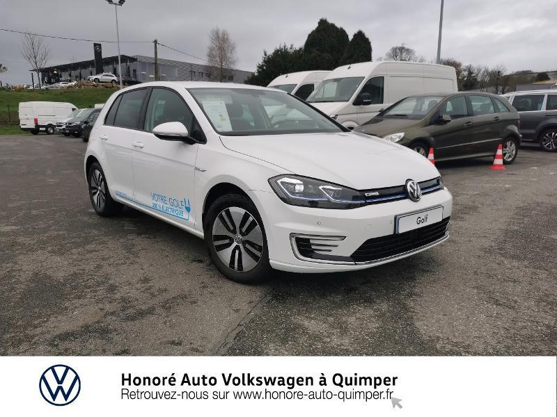 Photo 1 de l'offre de VOLKSWAGEN e-Golf 136ch 4cv à 22500€ chez Honore Auto - Volkswagen Quimper