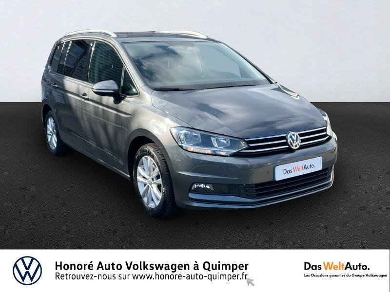 Volkswagen Touran 1.6 TDI 115ch BlueMotion Technology FAP Confortline Business DSG7 7 places Diesel GRIS F Occasion à vendre
