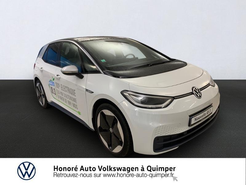 Volkswagen ID.3 204ch 1st Plus Electrique Blanc Glacier Occasion à vendre