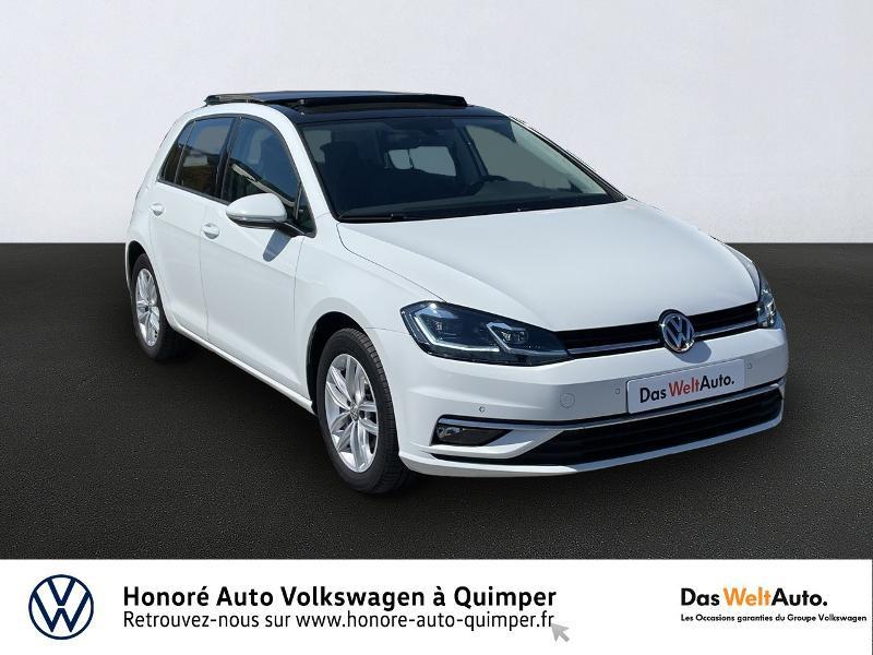 Volkswagen Golf 2.0 TDI 150ch BlueMotion Technology FAP Carat DSG6 5p Diesel Blanc Occasion à vendre