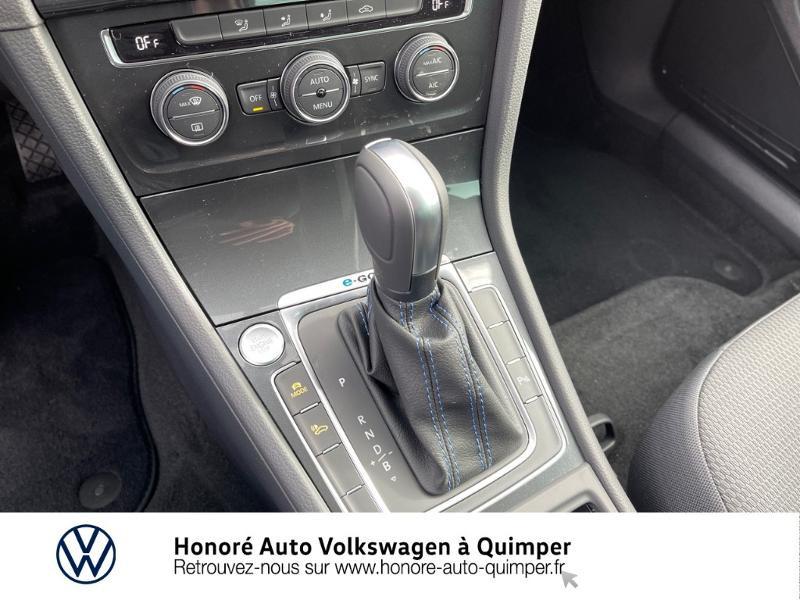 Photo 10 de l'offre de VOLKSWAGEN e-Golf 136ch à 23900€ chez Honore Auto - Volkswagen Quimper