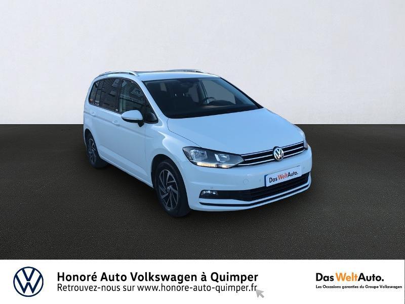 Volkswagen Touran 1.6 TDI 115ch BlueMotion Technology FAP Connect DSG7 7 places Diesel BLANC Occasion à vendre