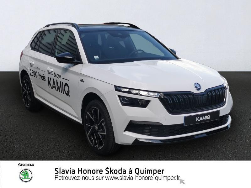 Skoda Kamiq 1.0 TSI Evo 110ch Monte-Carlo DSG7 Essence BLANC LUNE Occasion à vendre