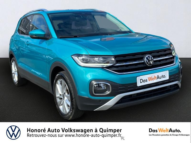 Volkswagen T-Cross 1.0 TSI 115ch Carat Essence TURQUOISE MAUI Occasion à vendre