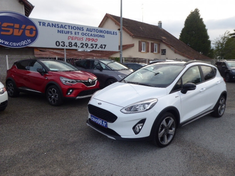 Ford FIESTA ACTIVE 1.0 ECOBOOST 100CH S&S EURO6.2 Essence BLANC Occasion à vendre
