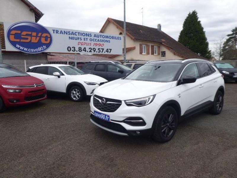 Opel GRANDLAND X 1.2 TURBO 130CH DESIGN LINE 120 ANS Essence BLANC/TOIT NOIR Occasion à vendre