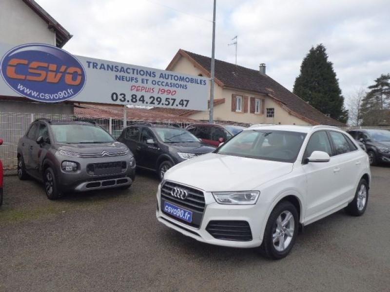 Audi Q3 4X4 2.0 TDI 150CH AMBIENTE QUATTRO S TRONIC 7 Diesel BLANC GLACIER Occasion à vendre