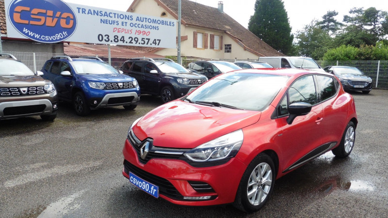 Renault CLIO IV 0.9 TCE 75CH ENERGY LIMITED 5P EURO6C Essence ROUGE FLAMME Occasion à vendre