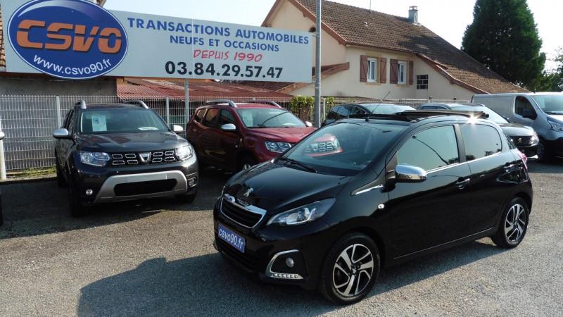Peugeot 108 VTI 72 TOP! ALLURE S&S 4CV 5P Essence NOIR METAL Occasion à vendre