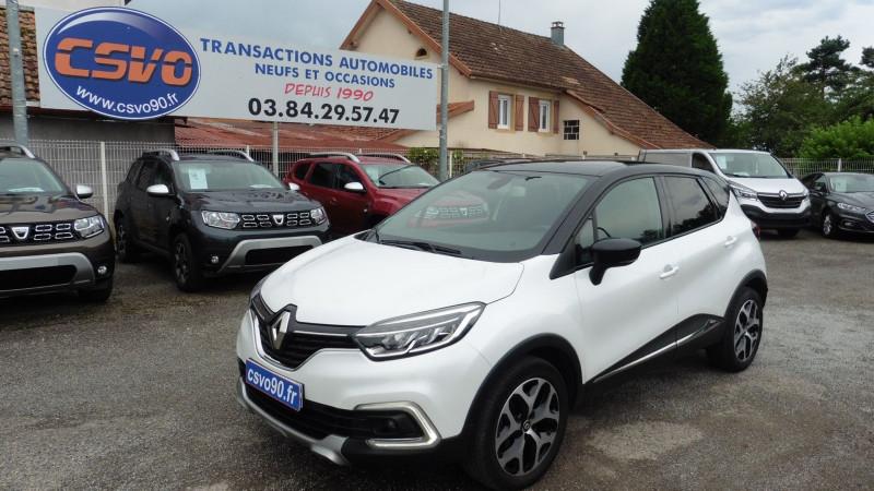 Renault CAPTUR 1.5 DCI 90CH ENERGY INTENS ECO² Diesel BLANC/TOIT NOIR Occasion à vendre