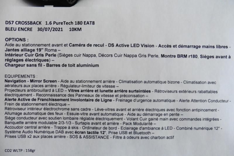 Photo 6 de l'offre de DS DS 7 CROSSBACK PURETECH 180CH BUSINESS AUTOMATIQUE à 37890€ chez CSVO