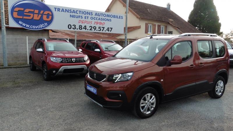 Peugeot RIFTER 1.5 BLUEHDI 130CH S&S LONG ALLURE PACK 7 PLACES Diesel ORANGE MT Occasion à vendre