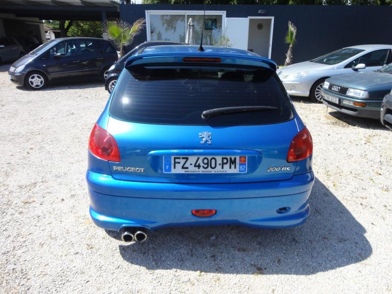 Photo 5 de l'offre de PEUGEOT 206 2.0 16V RC 3P à 12500€ chez TPL AUTO