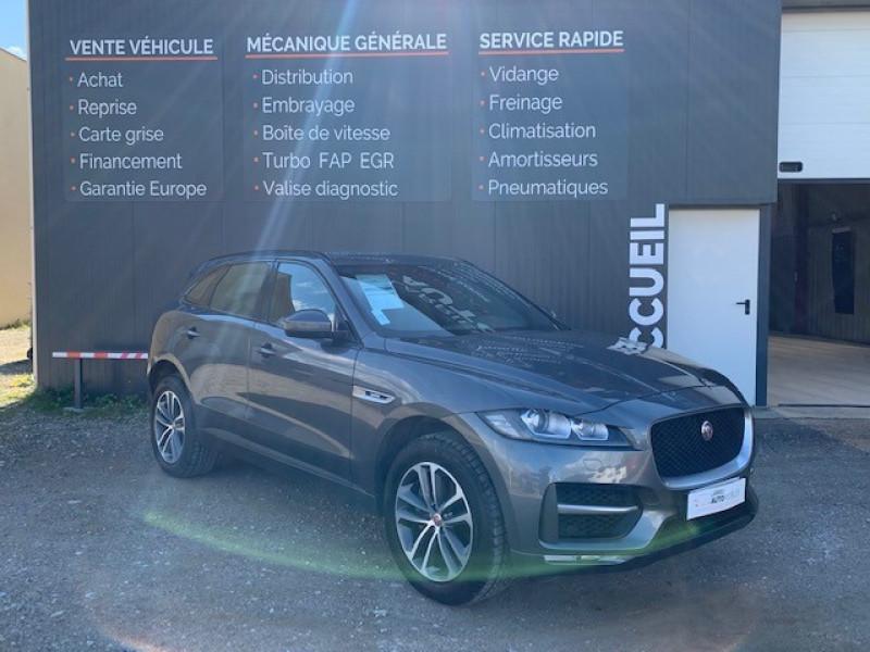 Jaguar F-PACE V6 3.0D 300CH R-SPORT 4X4 BVA8 Diesel GRIS Occasion à vendre