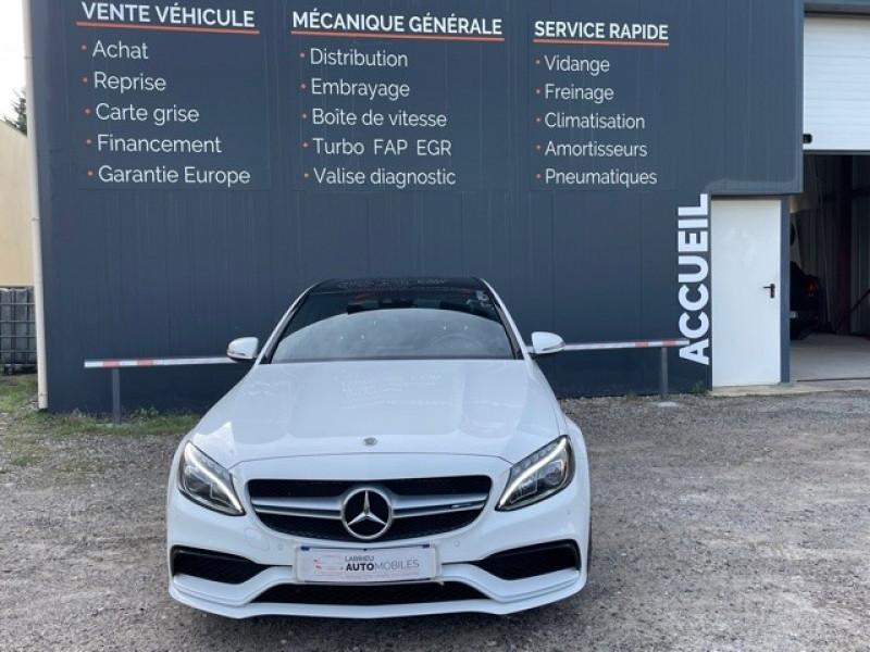 Photo 2 de l'offre de MERCEDES-BENZ CLASSE C (W205) 63 AMG SPEEDSHIFT MCT AMG à 64990€ chez Larrieu automobiles