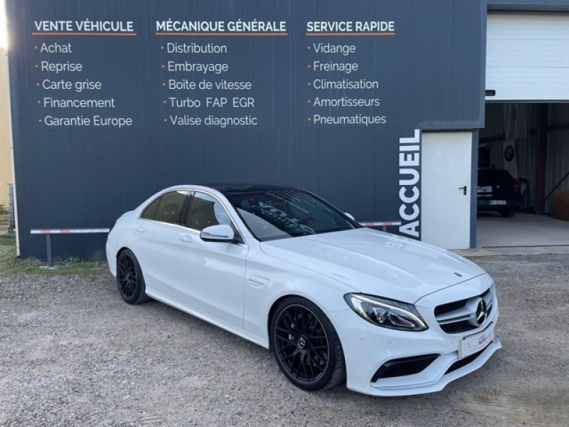 Photo 1 de l'offre de MERCEDES-BENZ CLASSE C (W205) 63 AMG SPEEDSHIFT MCT AMG à 64990€ chez Larrieu automobiles