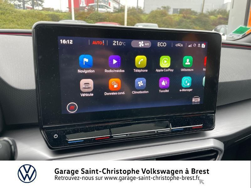 Photo 8 de l'offre de SEAT Leon eHybrid 204ch FR DSG6 à 32990€ chez Garage Saint Christophe - Volkswagen Brest
