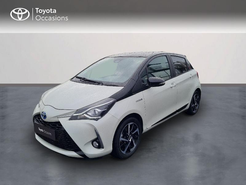 Toyota Yaris 100h Collection 5p MY19 Hybride BLANC NACRE Occasion à vendre