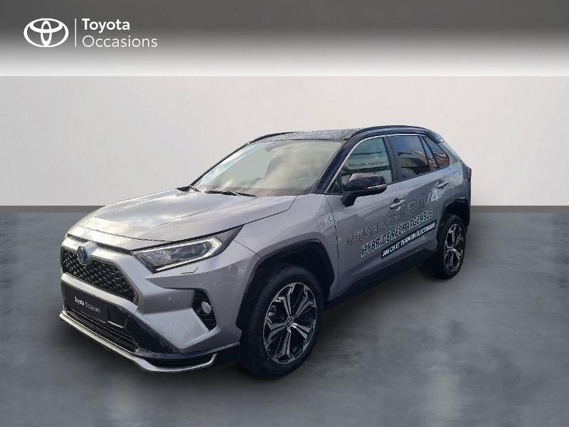 Toyota RAV4 Hybride Rechargeable 306ch Collection AWD Hybride GRIS ACIER BI-TON NOIR Occasion à vendre