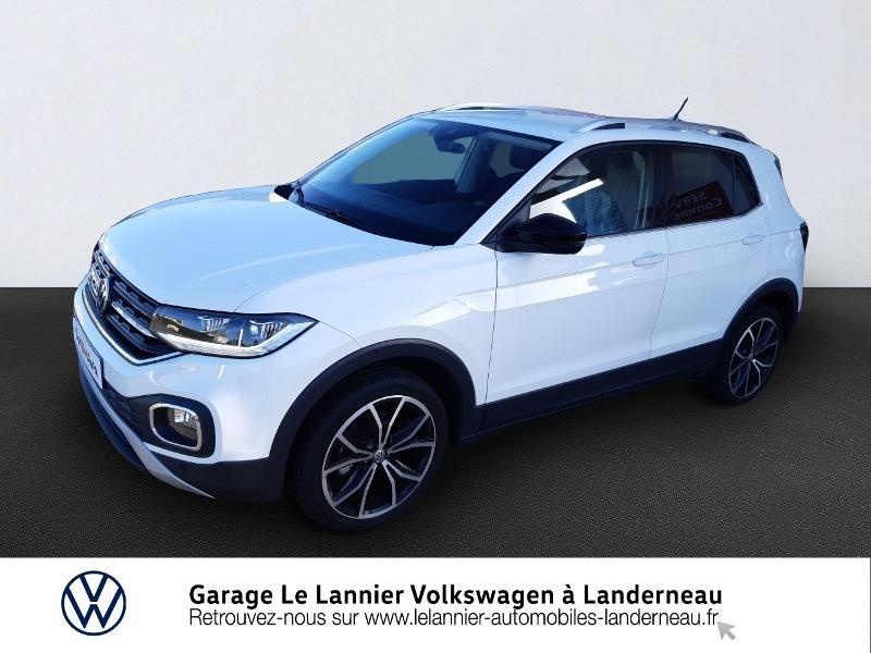 Volkswagen T-Cross 1.0 TSI 115ch Carat DSG7 Essence BLANC PUR Occasion à vendre