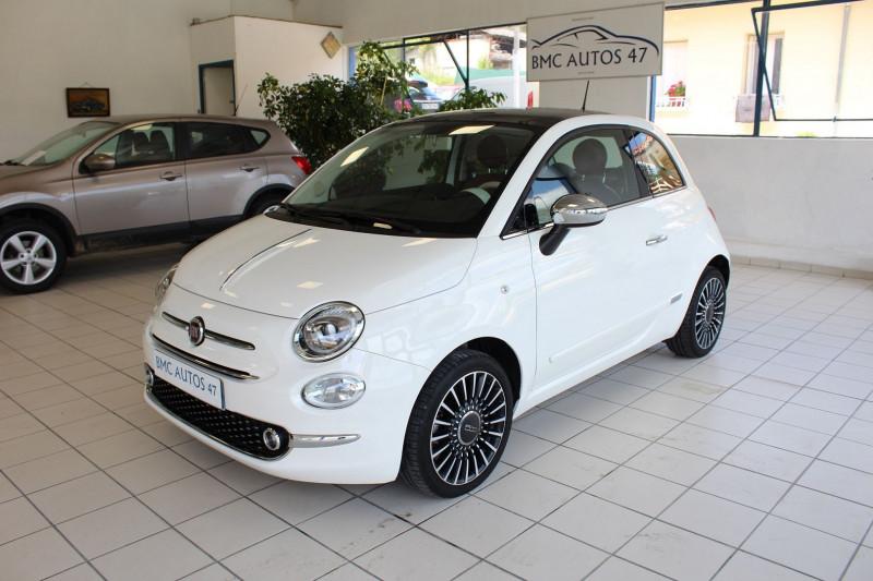 Fiat 500 1.2 8V 69CH CLUB Essence BLANC Occasion à vendre