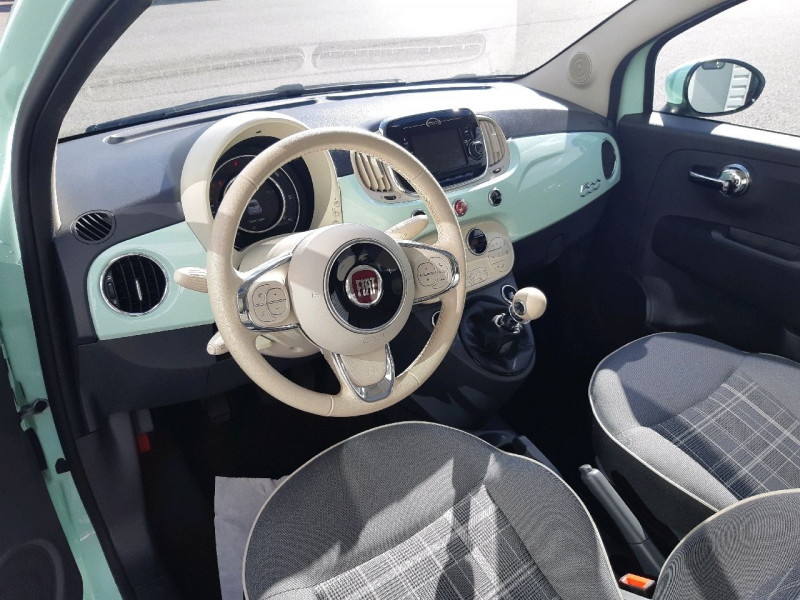 Photo 6 de l'offre de FIAT 500 0.9 8V TWINAIR 85CH S&S LOUNGE à 9790€ chez Carlyss automobiles Vitré