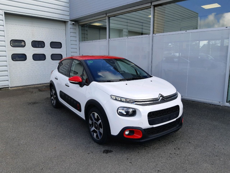 Citroen C3 BLUEHDI 100CH SHINE BUSINESS S&S Diesel BLANC Occasion à vendre