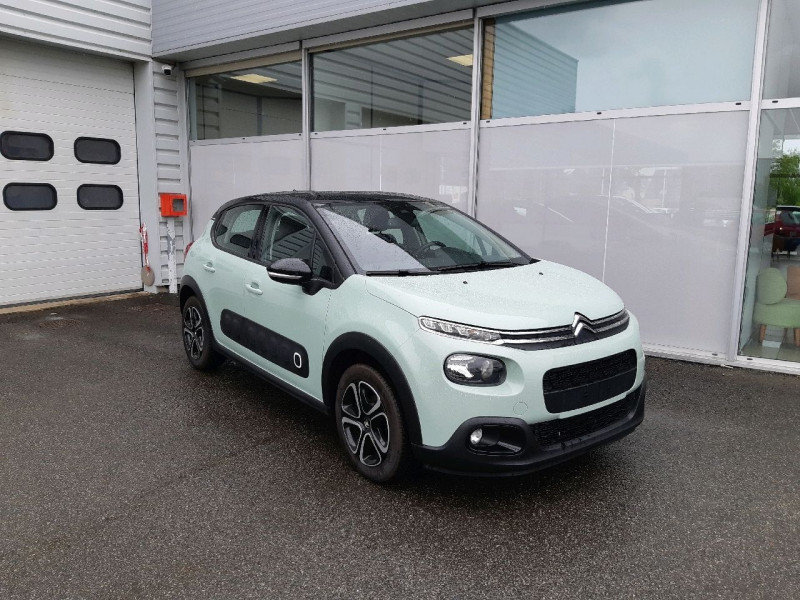 Citroen C3 PURETECH 110CH SHINE S&S EAT6 E6.D-TEMP Essence ALMOND GREEN Occasion à vendre