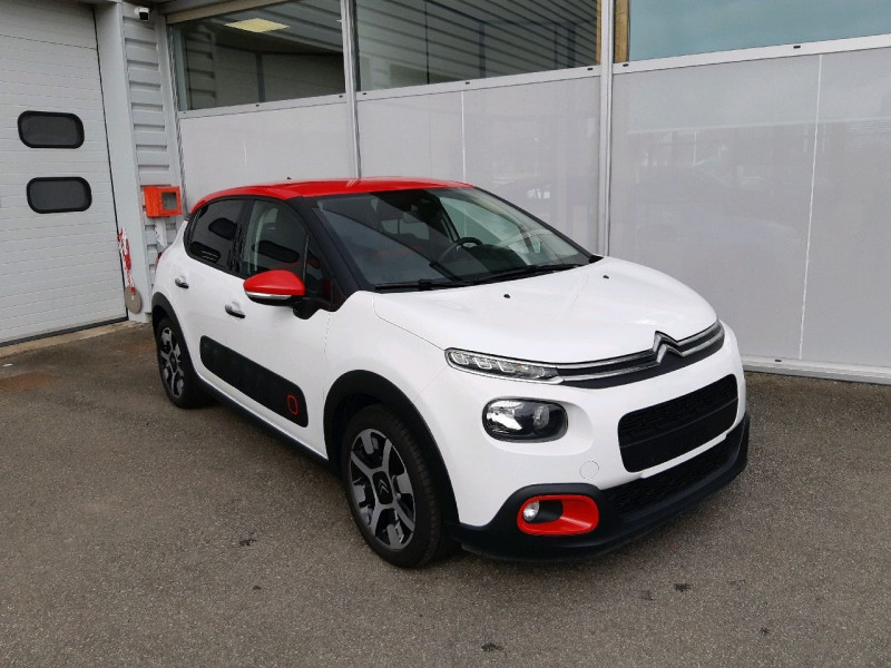 Citroen C3 PURETECH 82CH SHINE BUSINESS Essence BLANC / ROUGE Occasion à vendre