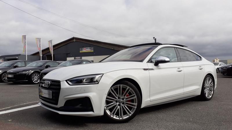 Audi S5 SPORTBACK 3.0 V6 TFSI 354CH QUATTRO TIPTRONIC 8 Essence BLANC Occasion à vendre