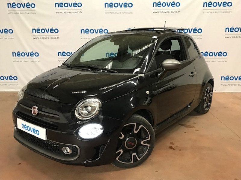 Fiat 500 1.2 8V 69CH S&S S EURO6D Essence NOIR Occasion à vendre