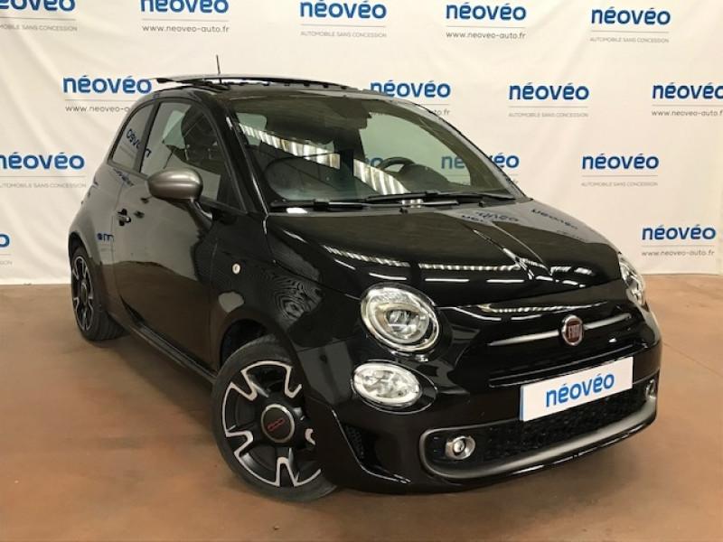 Fiat 500 1.2 8V 69CH S&S S DUALOGIC EURO6D Essence NOIR Occasion à vendre