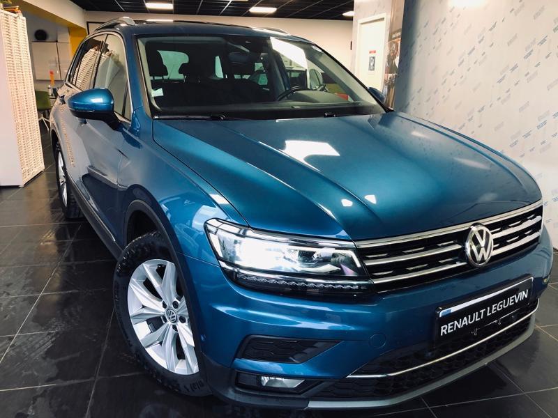 Volkswagen Tiguan 2.0 TDI 150ch Carat DSG7 Diesel BLEU Occasion à vendre
