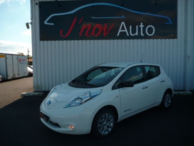 Nissan LEAF 109CH 24KWH VISIA Electrique BLANC Occasion à vendre