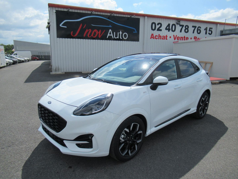 Ford PUMA 1.0 ECOBOOST 125CH MHEV ST-LINE X DCT7 Essence BLANC Occasion à vendre