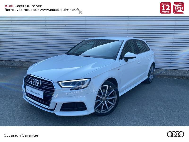 Audi A3 Sportback 2.0 TDI 184ch Design luxe quattro S tronic 6 Diesel BLANC GLACIER Occasion à vendre